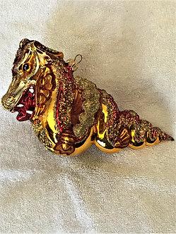 "Thomas Glenn ""Dragon - Gold & Red"" Molded Christmas Ornament"