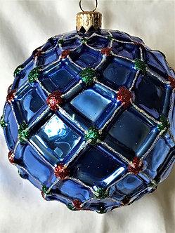 "#10 - Thomas Glenn ""Blue Ball"" Ball Christmas Ornament"