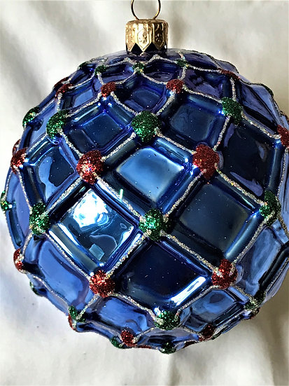 "#10 - Thomas Glenn ""Blue Ball"" Ball Christmas Ornament"