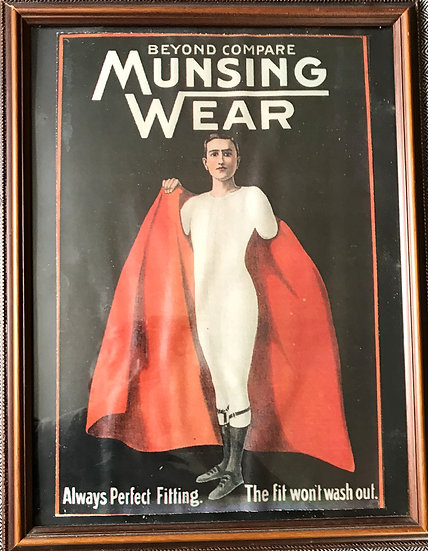 Munsingwear Men's Underwear Ad Framed