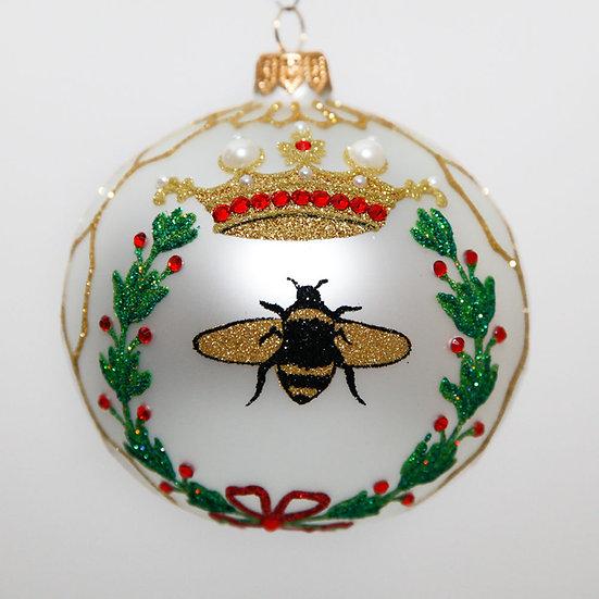 "#2048 - Thomas Glenn ""Queen Bee"" Ball Christmas Ornament"