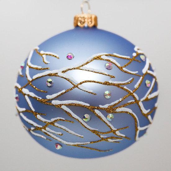 "#620 - Thomas Glenn ""Branch - Light Blue"" Ball Christmas Ornament"
