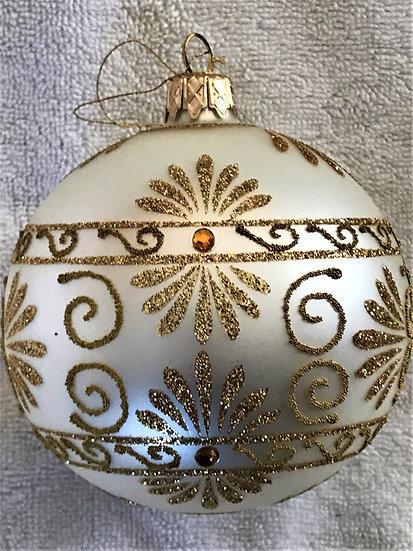 "#358 - Thomas Glenn ""Topaz"" Ball Christmas Ornament"