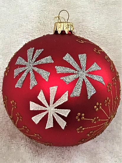 "#1510 - Thomas Glenn ""Modern Floral"" Ball Christmas Ornament"