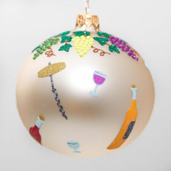 "#2020 - Thomas Glenn ""Vino"" Ball Christmas Ornament"