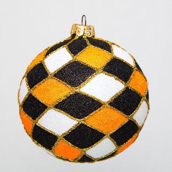 "#772-Hall - Thomas Glenn ""Harlequin Halloween"" Ball Ornament"