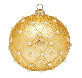 "#634GD - Thomas Glenn ""Gold Pearl"" Ornament"