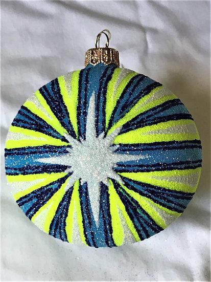 "#2014 - Thomas Glenn ""Rays of Light"" Ball Christmas Ornament"