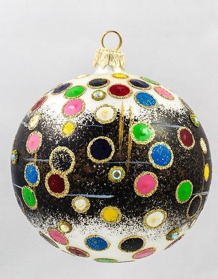 "#251 - Thomas Glenn ""Dots on Black"" Ball Ornament"