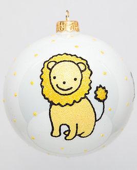 "#1728 - Thomas Glenn ""Baby's First Christmas"" Lion Ball Ornament"