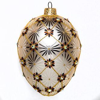 """#1770 - Thomas Glenn """"Tapestry"""" Faberge Egg Ornament"""