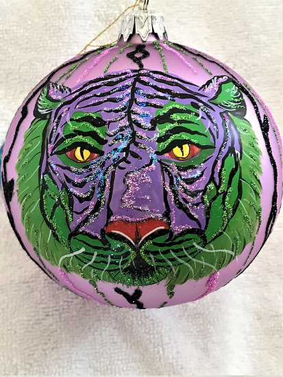 "#307 - Thomas Glenn ""Tibetan Tiger"" Ball Christmas Ornament"