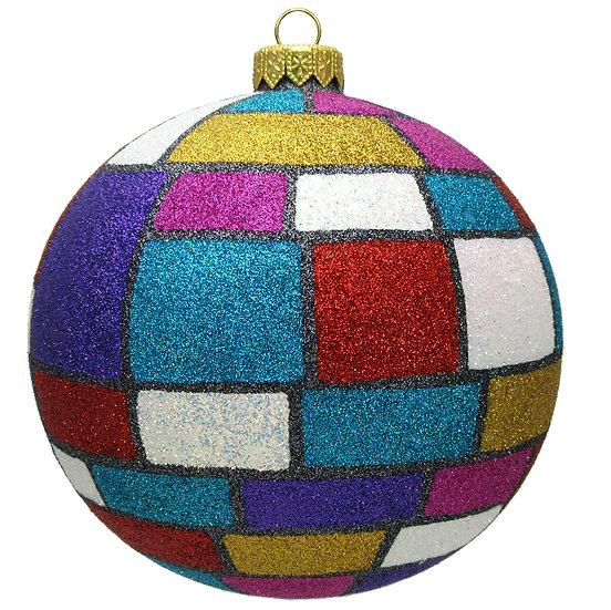 "#1601 - Thomas Glenn ""Mondrian"" Ball Ornament"