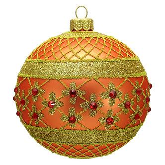 "#635O - Thomas Glenn ""Orange Coronation"" Ball Ornament"