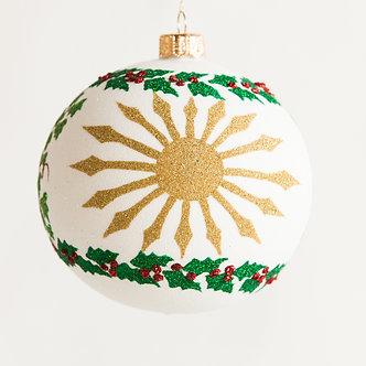 "#1840 - Thomas Glenn ""Christmas Morn"" Ball Ornament"