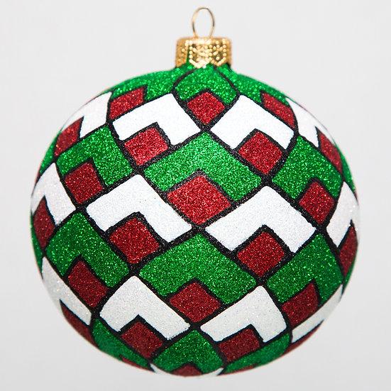 "#1715 - Thomas Glenn ""Christmas Diamonds"" Ball Ornament"
