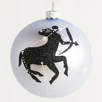 "#1862 - Thomas Glenn ""Sagittarius"" Zodiac Christmas Ball Ornament"