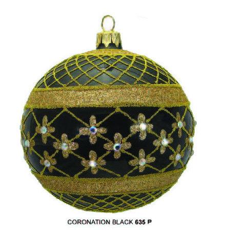 "#635BK - Thomas Glenn ""Black Coronation"" Ball Ornament"