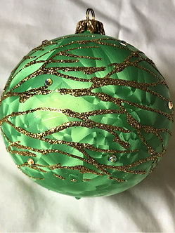 "#623 - Thomas Glenn ""Branch - Green"" Ball Christmas Ornament"