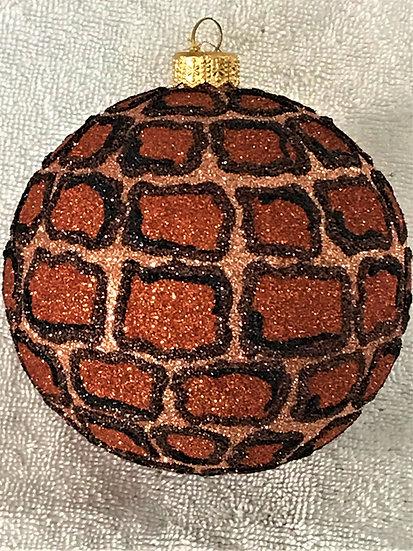 "#1618 - Thomas Glenn ""Crocodile"" Ball Christmas Ornament"