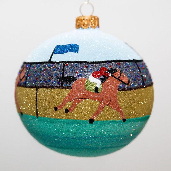 "#2035 - Thomas Glenn ""A Day At The Races"" Ball Christmas Ornament"