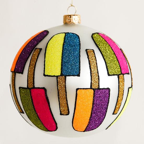 "#1808 - Thomas Glenn ""Popsicles"" Ball Ornament"