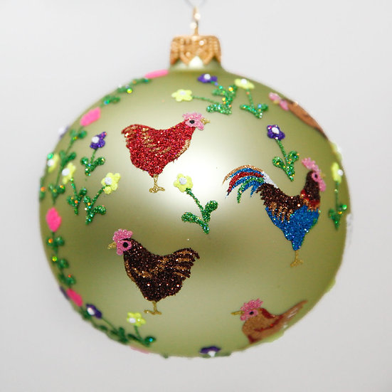 "#2060 - Thomas Glenn ""Poulet"" Ball Christmas Ornament"