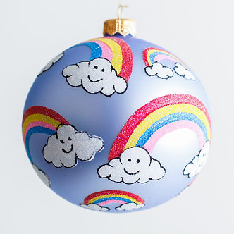 "#1904 - Thomas Glenn ""Rainbow Connection"" Ball Ornament"
