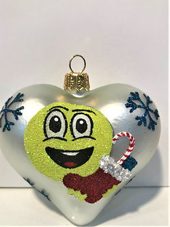 "#1903Heart - Thomas Glenn ""Heart - Christmas Emojis"" Molded Christmas Ornament"