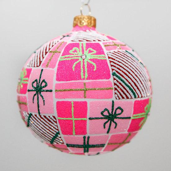 "#2001 - Thomas Glenn ""Pretty In Pink"" Ball Christmas Ornament"