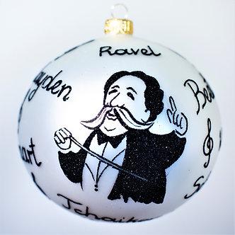 "#2019 - Thomas Glenn ""Symphony"" Ball Christmas Ornament"