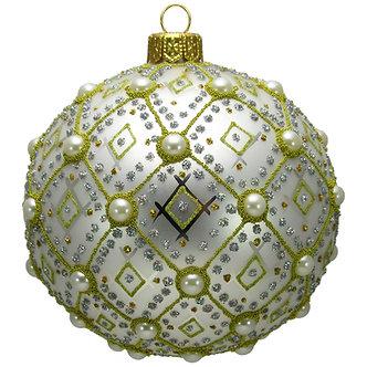 "#634W - Thomas Glenn ""White Pearl"" Ornament"