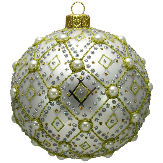 "#634W - Thomas Glenn ""White Pearl"" Ornament"