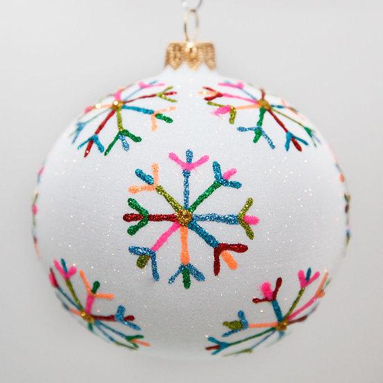 """#2027 - Thomas Glenn """"Fashion Flakes"""" Ball Christmas Ornament"""