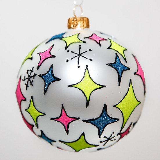 "#2041 - Thomas Glenn ""Stardust"" Ball Christmas Ornament"