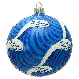 "#1639 - Thomas Glenn ""Waves"" Ball Christmas Ornament"
