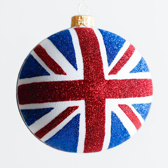 "#1924 - Thomas Glenn ""God Save The Queen"" Ball Ornament"