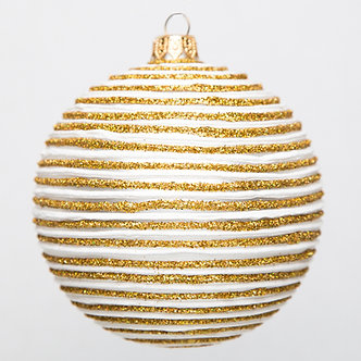 "#1785 - Thomas Glenn ""Gold Dust"" Ball Ornament"