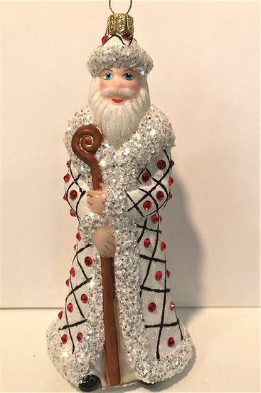 "#1748Santa - Thomas Glenn ""Santa - Freckles"" Molded Christmas Ornament"
