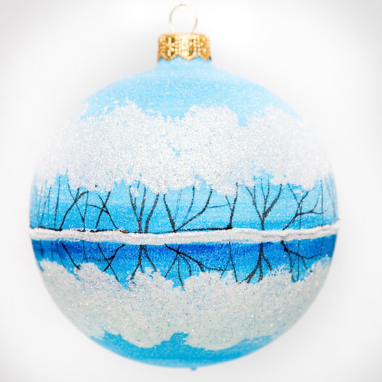"#1717 - Thomas Glenn ""Frosted Reflection"" Ball Ornament"