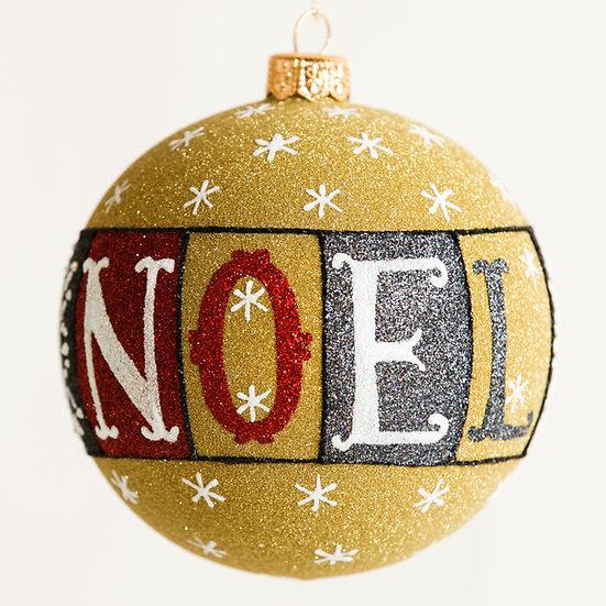 "#1825 - Thomas Glenn ""NOEL"" Ball Ornament"