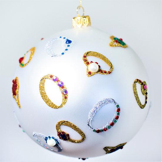 "#2025 - Thomas Glenn ""Put A Ring On It"" Ball Christmas Ornament"