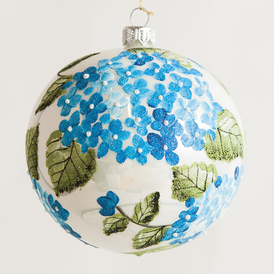 "#1839 - Thomas Glenn ""Hydrangea"" Ball Ornament"