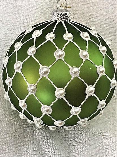 "#1848Green - Thomas Glenn ""Madison - Green"" Ball Christmas Ornament"