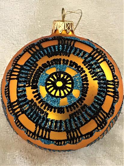 """#1404 - Thomas Glenn """"Kuba-2"""" Ball Christmas Ornament"""