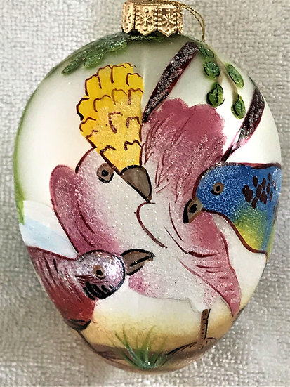 "#71 - Thomas Glenn ""Sevres Egg White"" Egg Christmas Ornament"