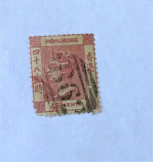"""Stamps """"Hong Kong Scott #21"""" Queen Victoria 48c"""