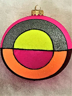 "#1412HP - Thomas Glenn ""Baltic - Hot Pink"" Ball Christmas Ornament"