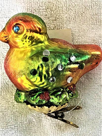 "#296 - Thomas Glenn ""Small Bird"" Molded Christmas Ornament"