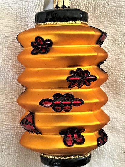 "#363 - Thomas Glenn ""Lantern - Gold"" Molded Christmas Ornament"